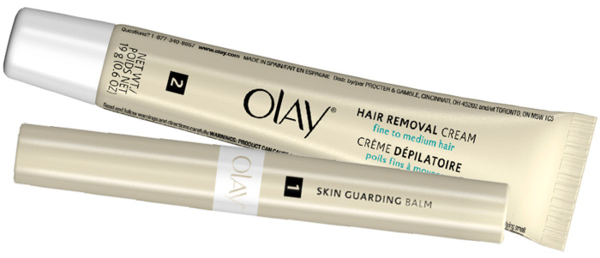 Moustache removal: Olay Smooth Finish Facial Hair Removal Duo