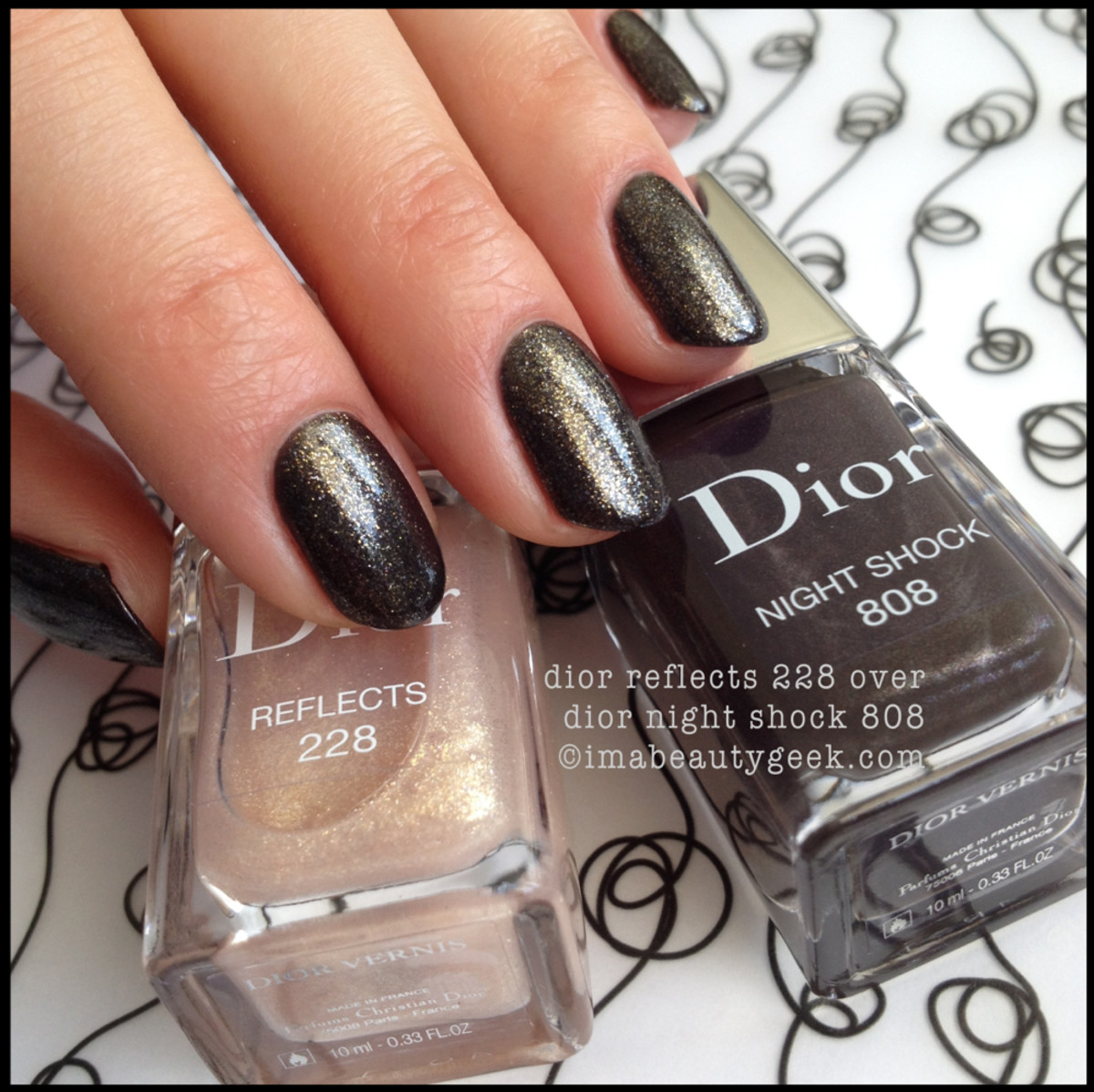 Dior Vernis Reflects 228 over Night Shock 808