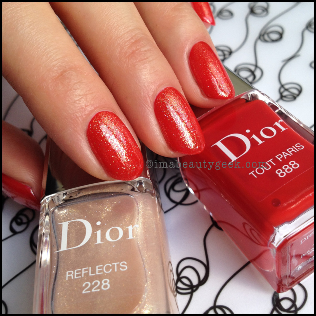 Dior Vernis Reflects 228 over Tout Paris 888