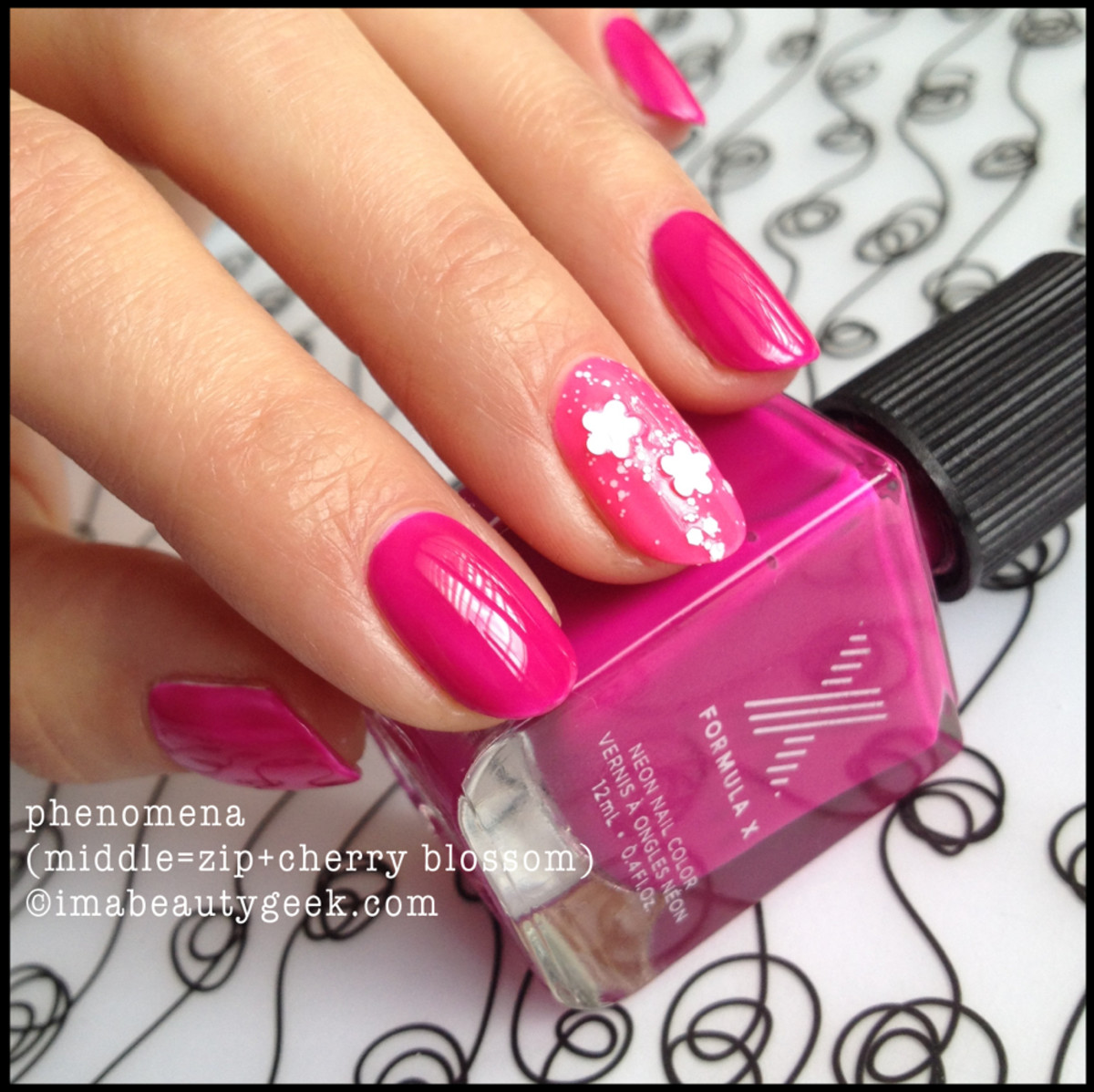 Formula X Phenomena Neon w Cherry Blossom Top Coat