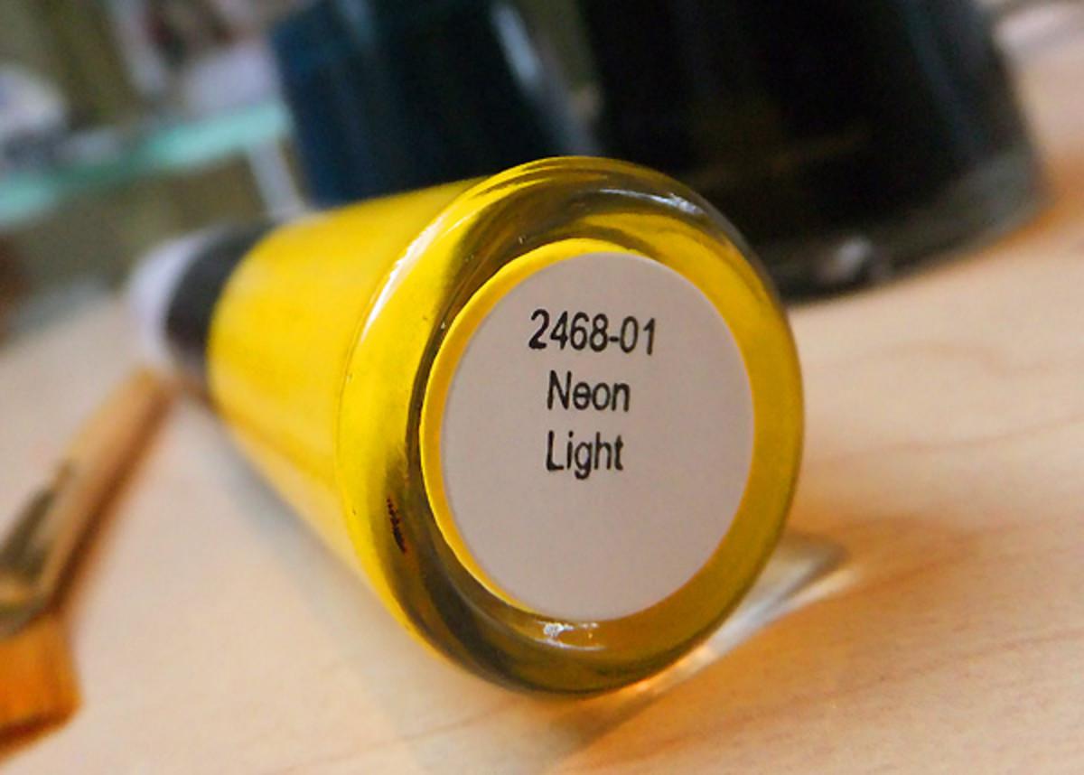 Revlon Neon Light yellow_Lucien Matis nails FW2012_Tips Nail Bar