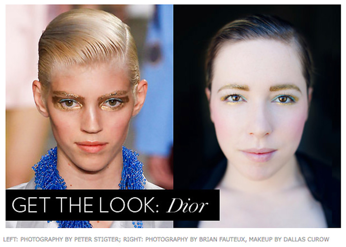 Dior Spring 2014 ready to wear golden eyes or gilded eyes