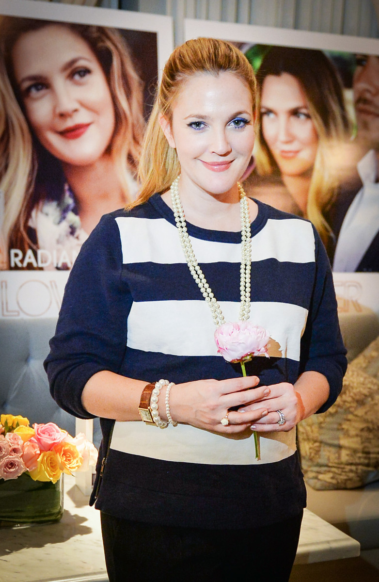 Drew Barrymore at the Canadian launch of Flower Beauty, at Colette in Toronto.
