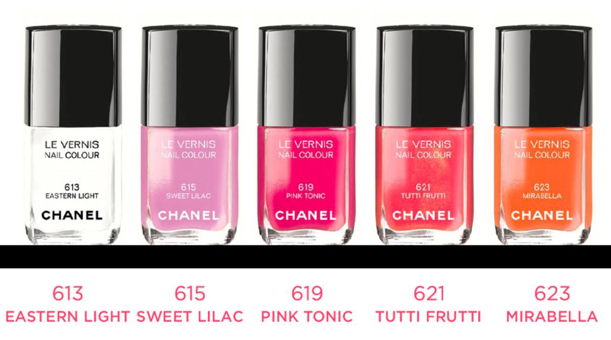 Chanel summer makeup_le vernis nail polish shades