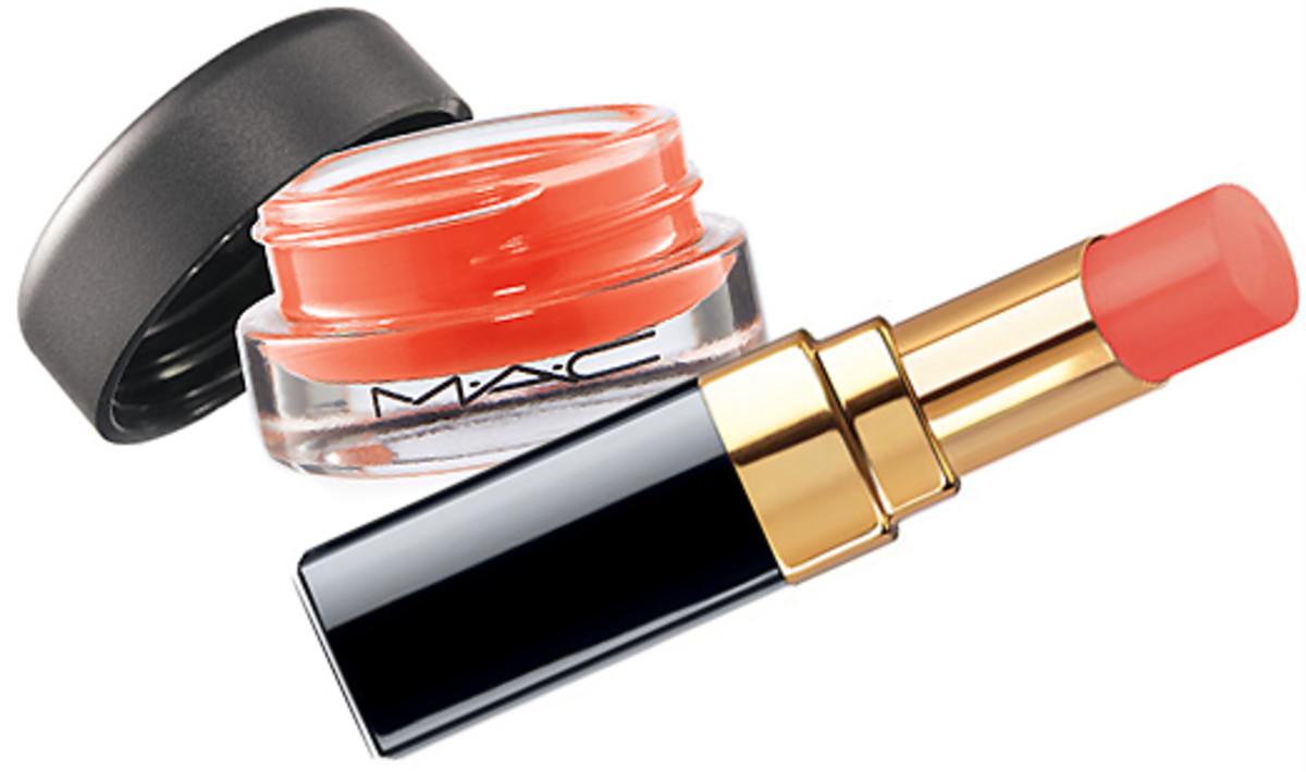 MAC Tendertone Lip Balm in Purring_Chanel Rouge Coco Shine in Flirt