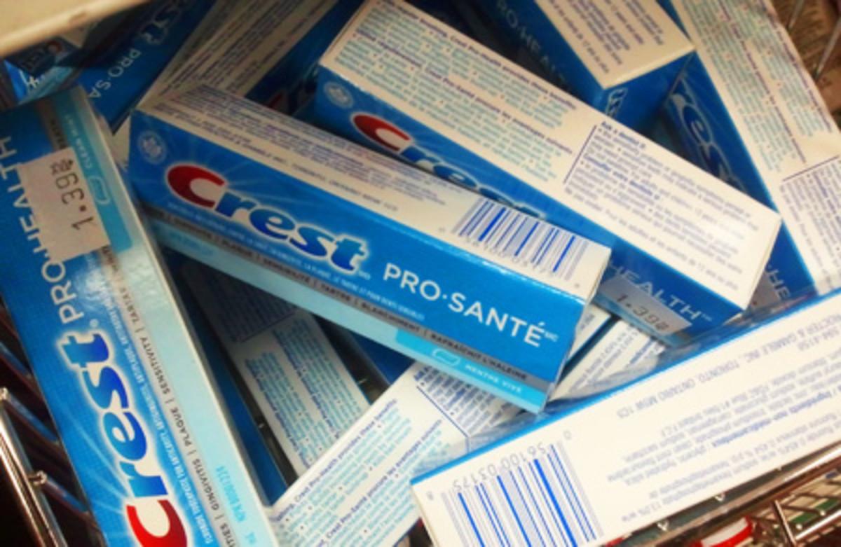 travel size Crest Pro-Health toothpaste