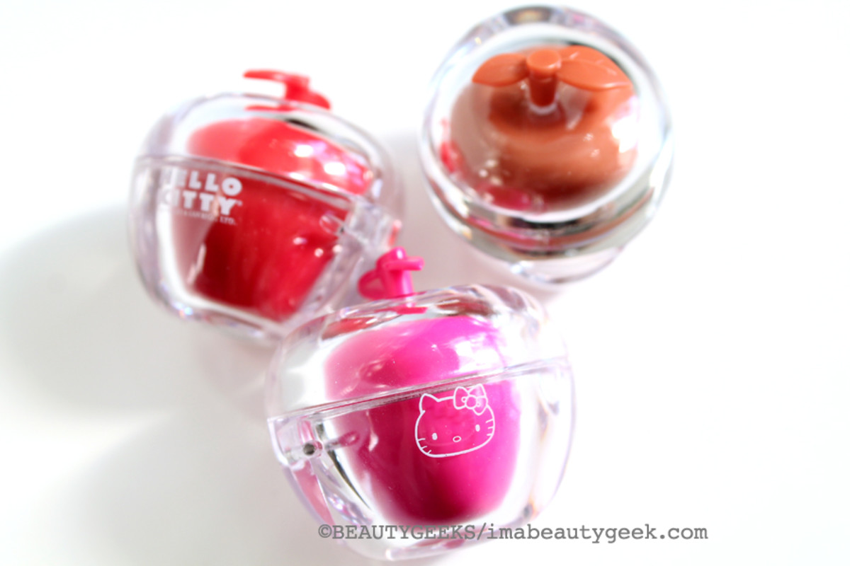 Hello Kitty Holiday 2014_Hello Kitty 40th Anniversary Tinted Lip Balm Trio set