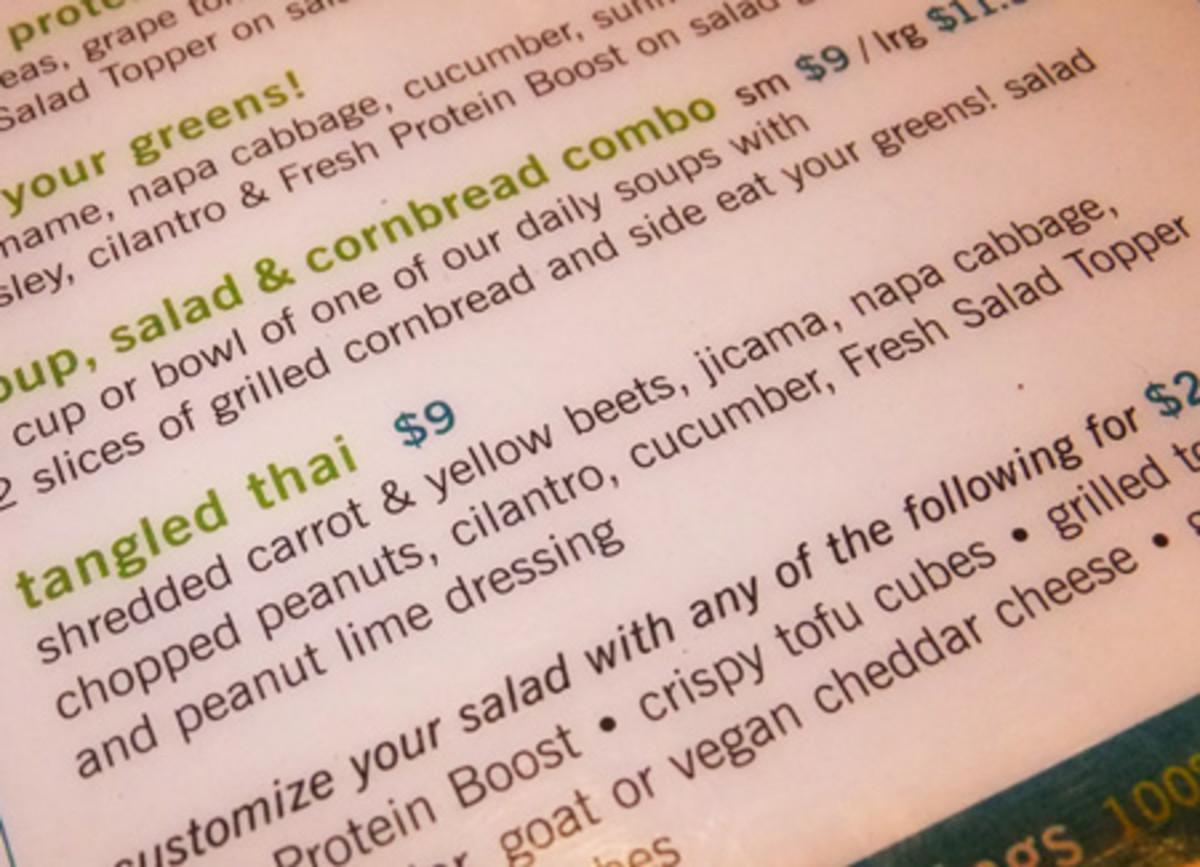 Tangled Thai salad at Fresh
