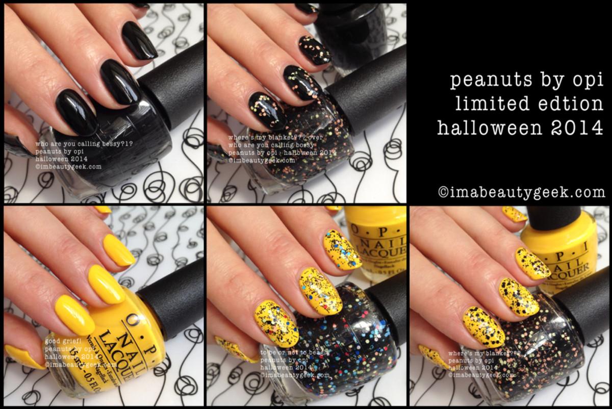 OPI Peanuts Halloween 2014 Beautygeeks