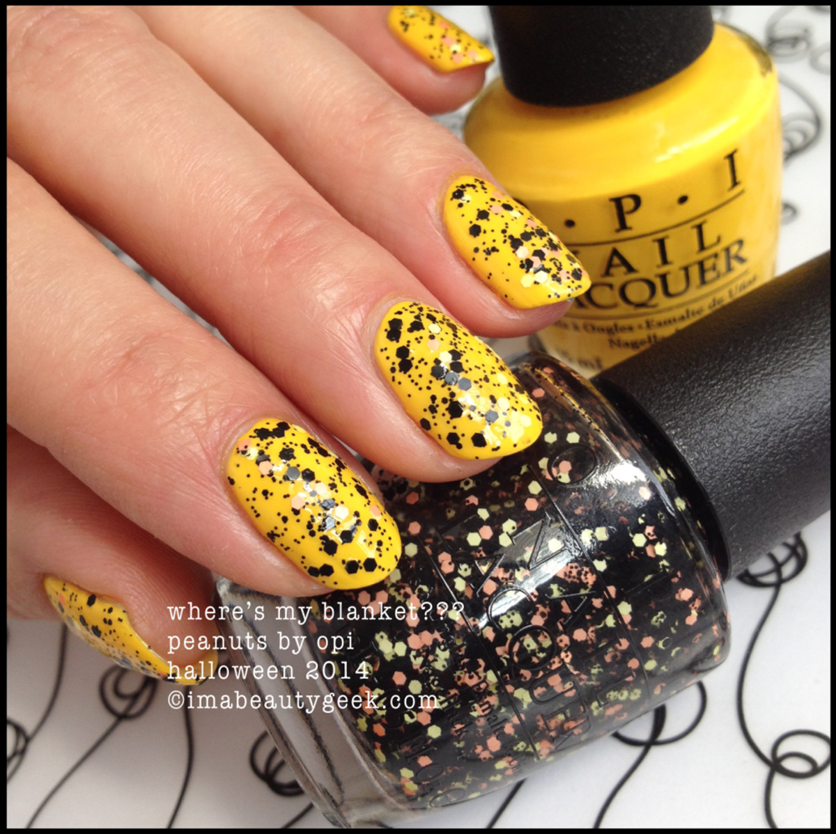 OPI Where's My Blanket Peanuts by OPI Halloween 2014