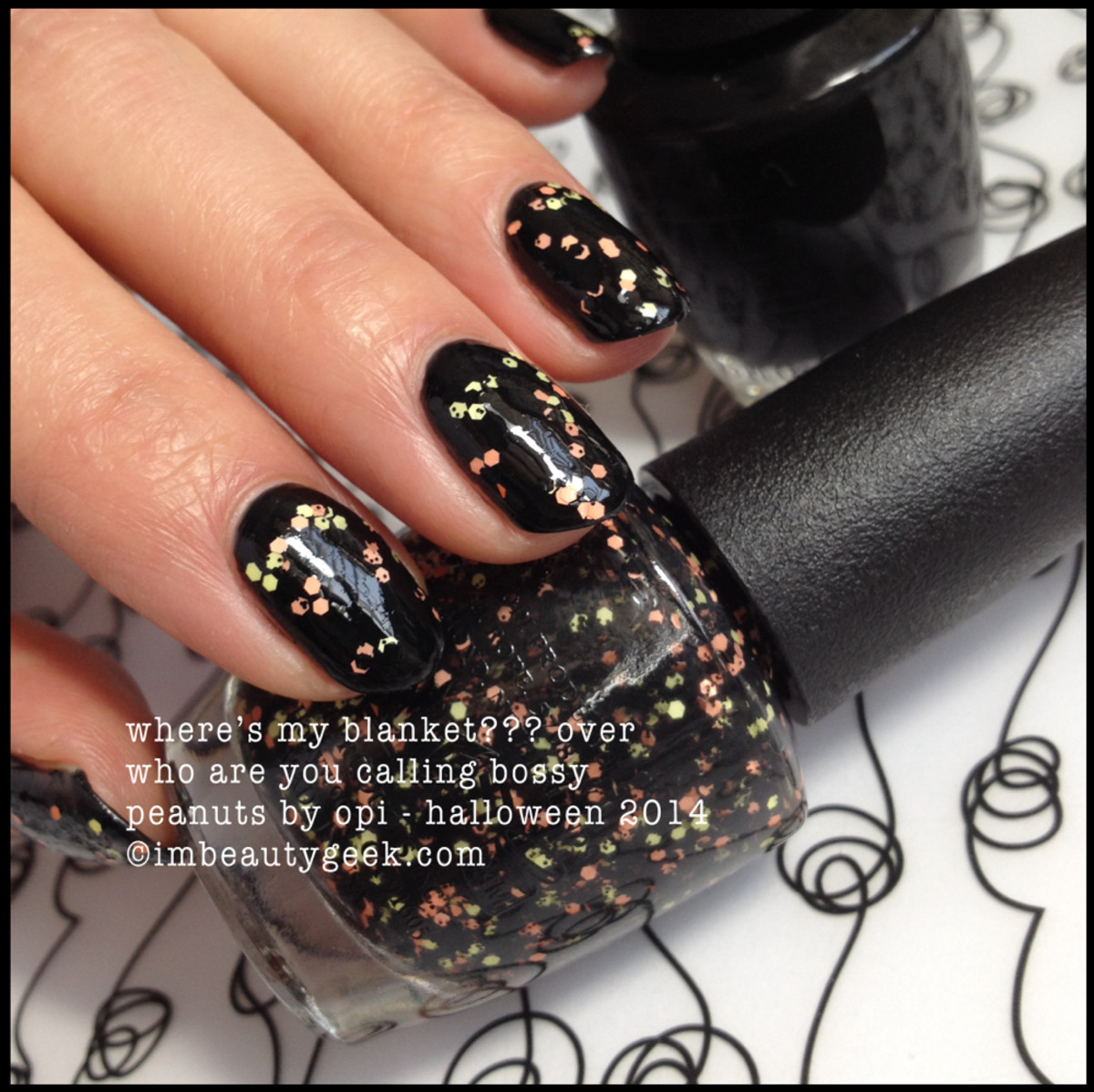 OPI Where's My Blanket over Black Peanuts by OPI Halloween 2014