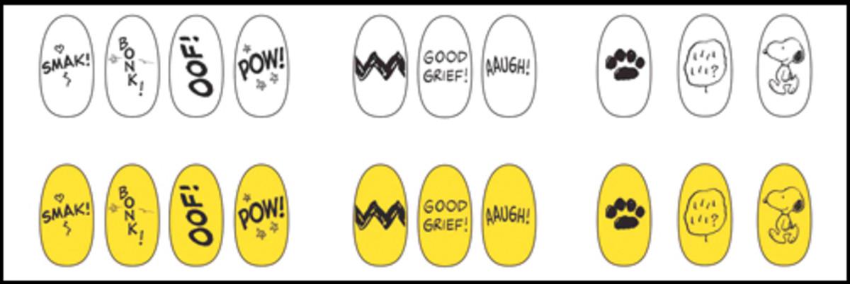 OPI Peanuts Nail Stickers