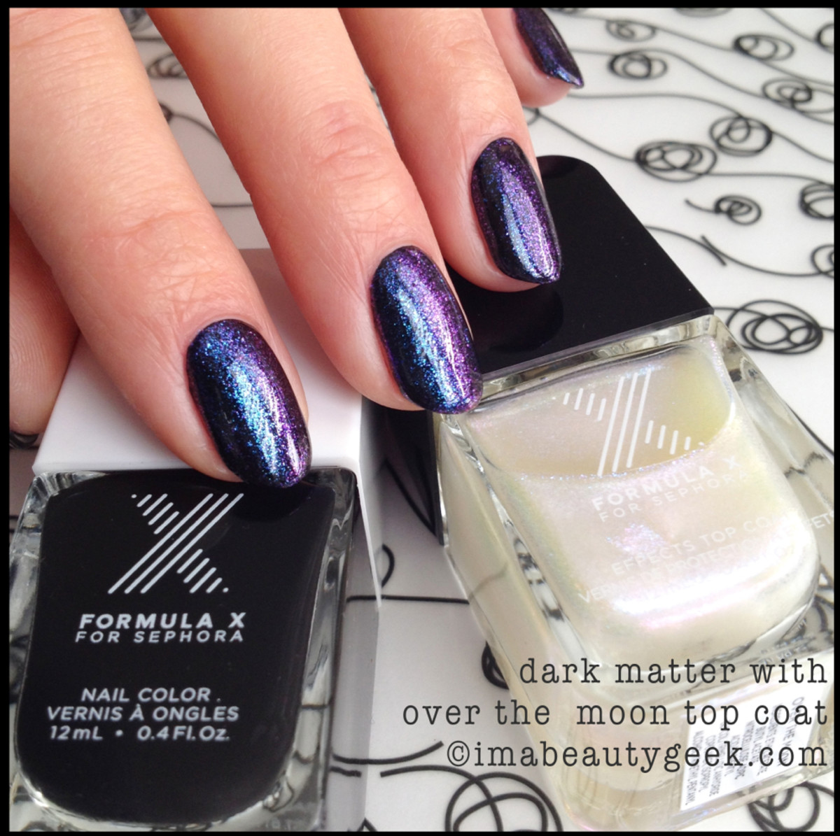 Formula X for Sephora Dark Matter w Over The Moon Topcoat