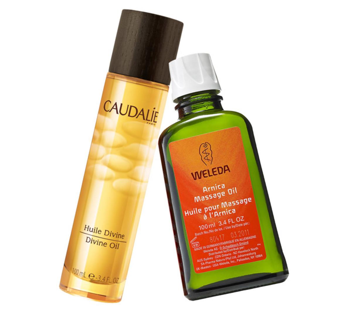 Caudalie Divine Oil_Weleda Arnica Massage Oil
