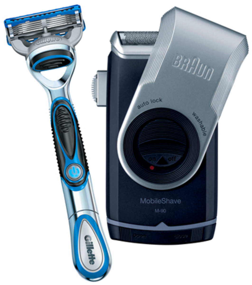 Gillette Fusion and Braun Mobile Shave