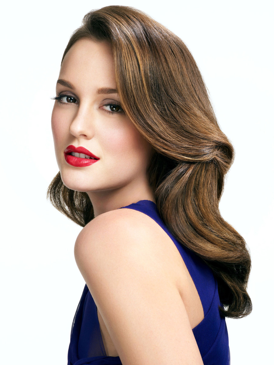 retro waves_pin curls_leighton meester