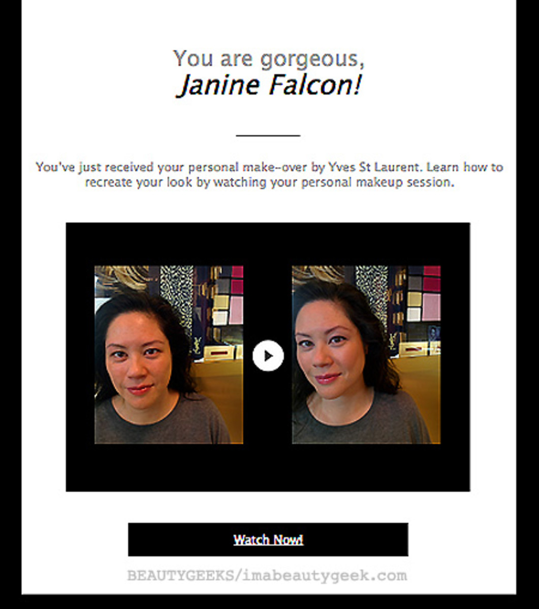 ysl google glass makeup how-to email