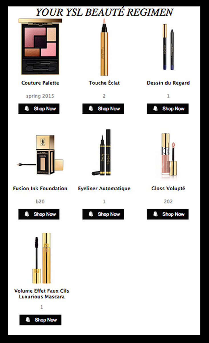 ysl google glass makeup video email_product list