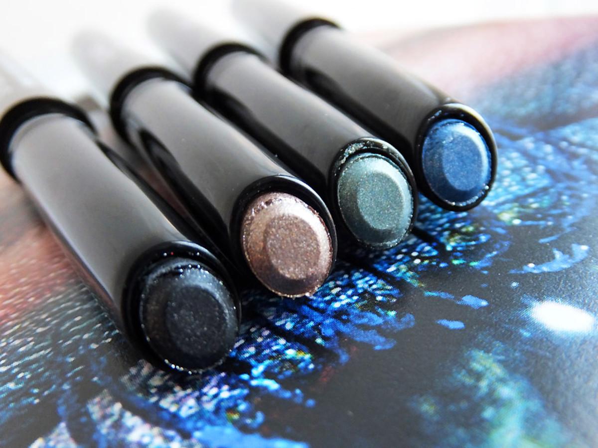 Chanel Stylo Eyeshadow pens in Black Stream_Moon River_Jade Shore_Blue Bay_summer 2013