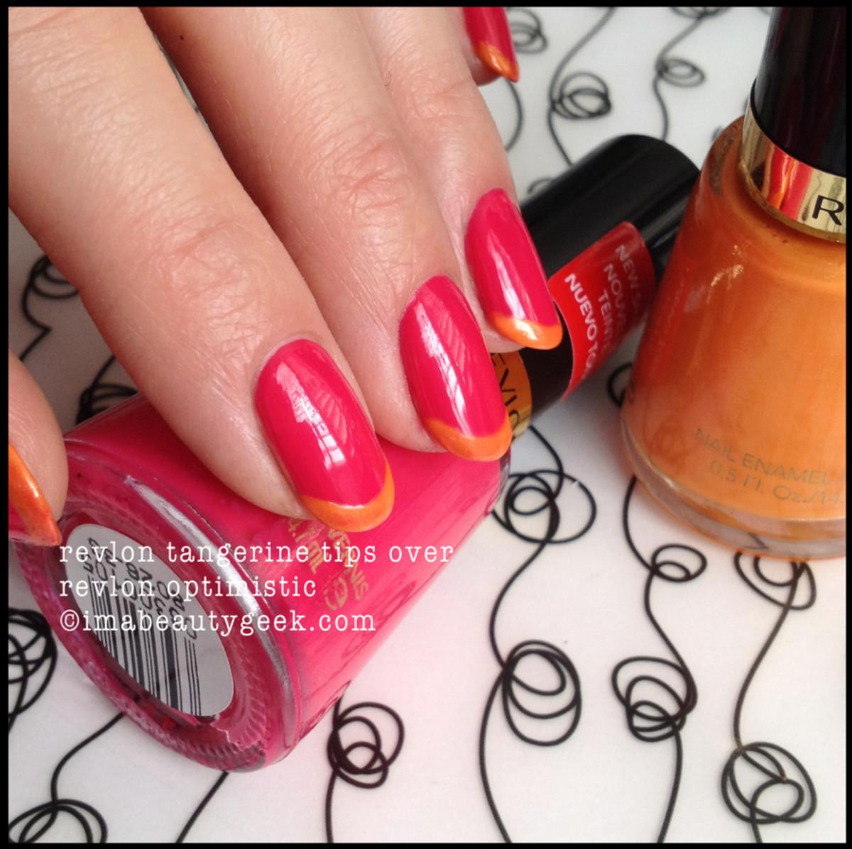 revlon optimistic with revlon tangerine tips