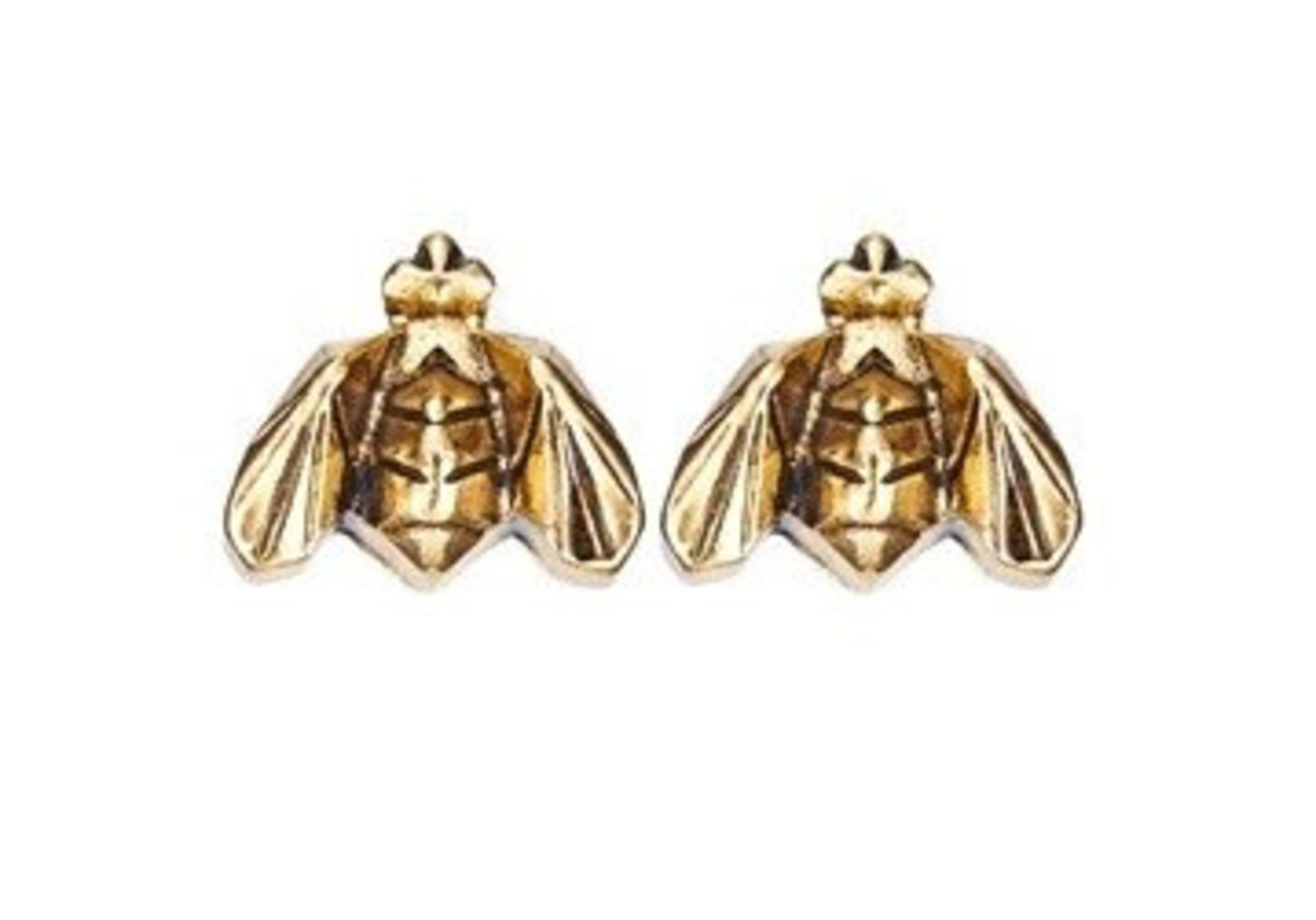 Wild for Bees earrings by Jenny Bird for Burt's Bees (2013 limited edition)
