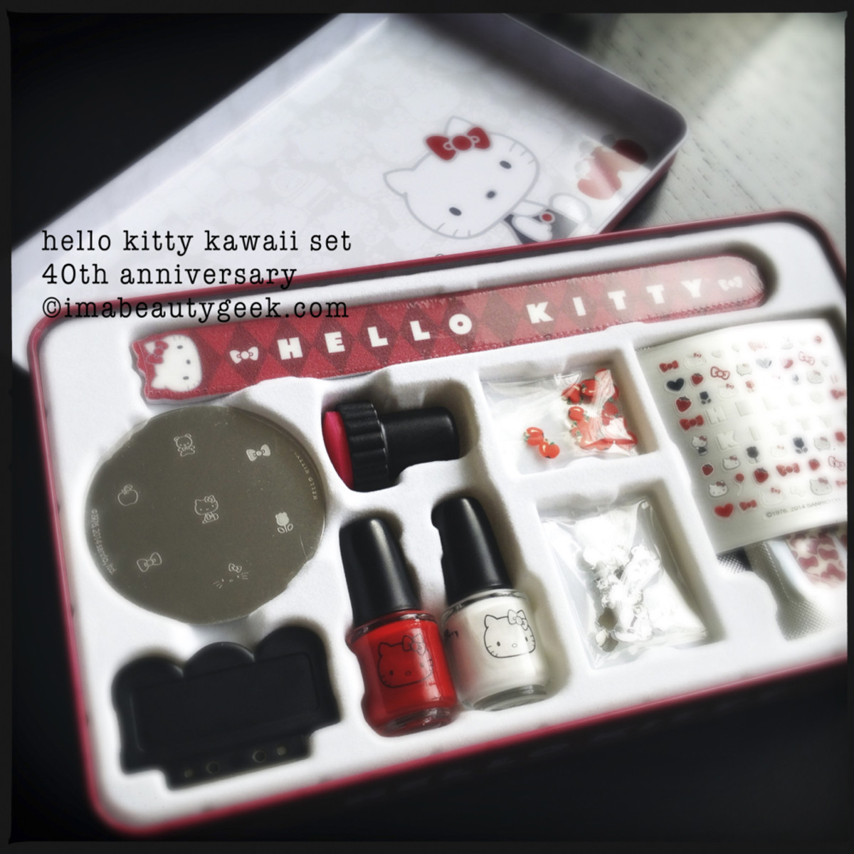 Hello Kitty Nail Stamping Kawaii Set 40th Anniversary