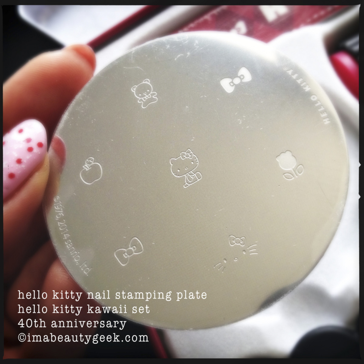 Hello Kitty Konad Stamping Plate Kawaii Set