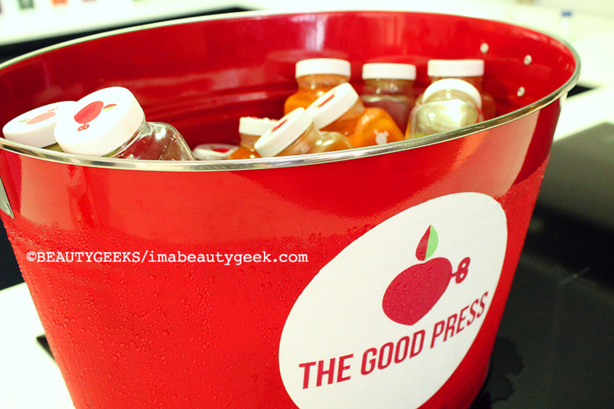 TIFF media lounge_The Good Press juices