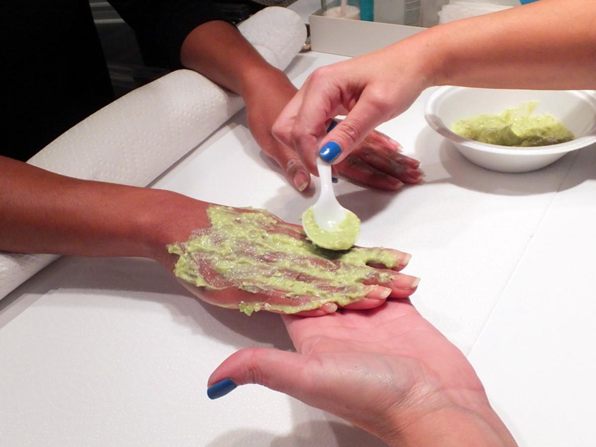 avocado beauty treatments_Avocados from Mexico_avocado hand mask_LuvMexAvocados_Tips Nail Bar_Oct2013