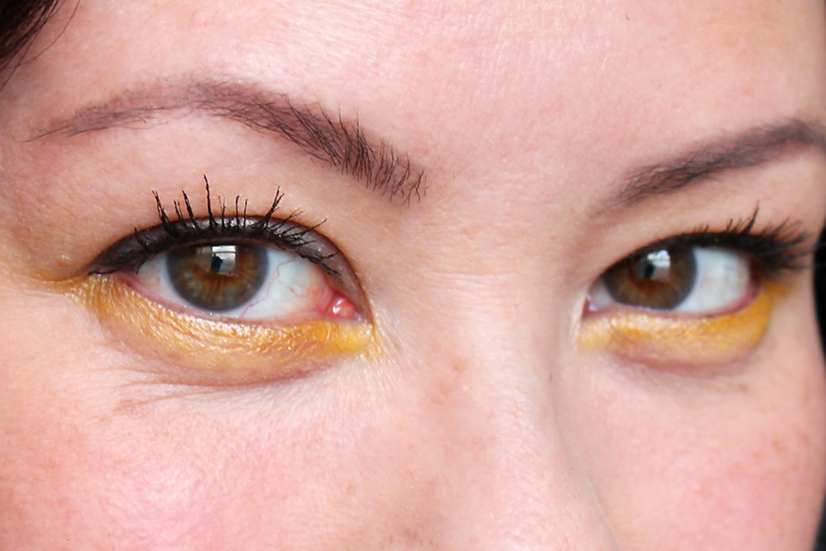 how to wear yellow eyeshadow_revlon rio rush in exotic