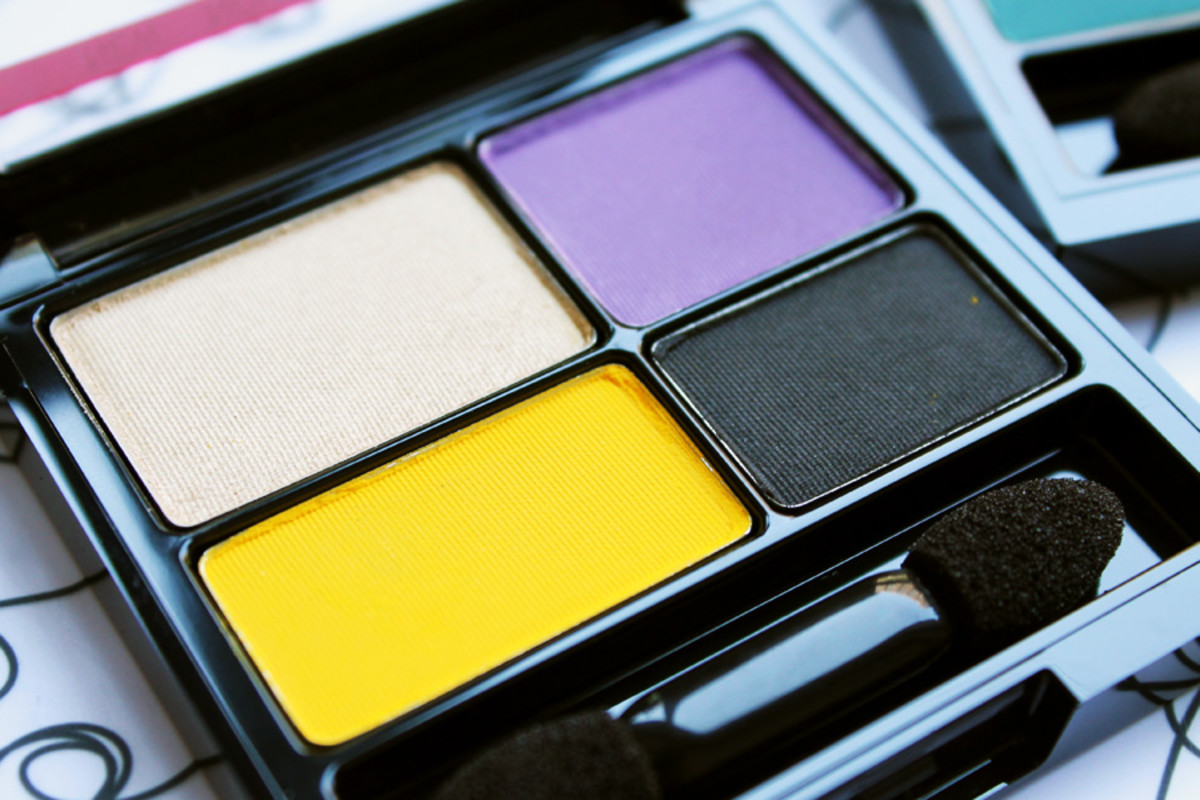 how to wear yellow eyeshadow_revlon rio rush exotic eyeshadow palette