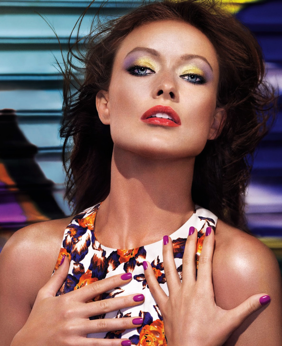 how to wear bright eyeshadow_olivia wilde_revlon rio rush_exotic