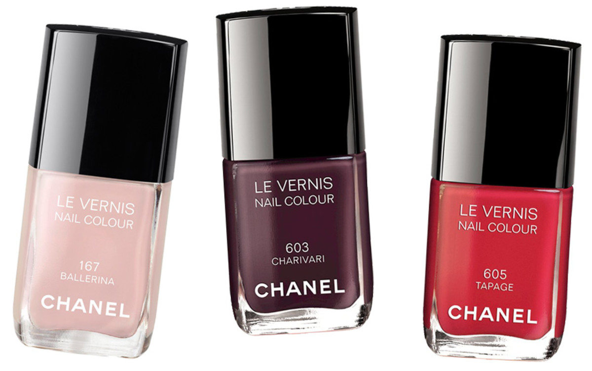 Chanel Spring 2014 nails_Chanel Ballerina 167 nail colour_Chanel Charivari 603 nail colour_Chanel Tapage 605 nail colour_original individual images courtesy of Chanel_composite created by BEAUTYGEEKS imabeautygeek.com