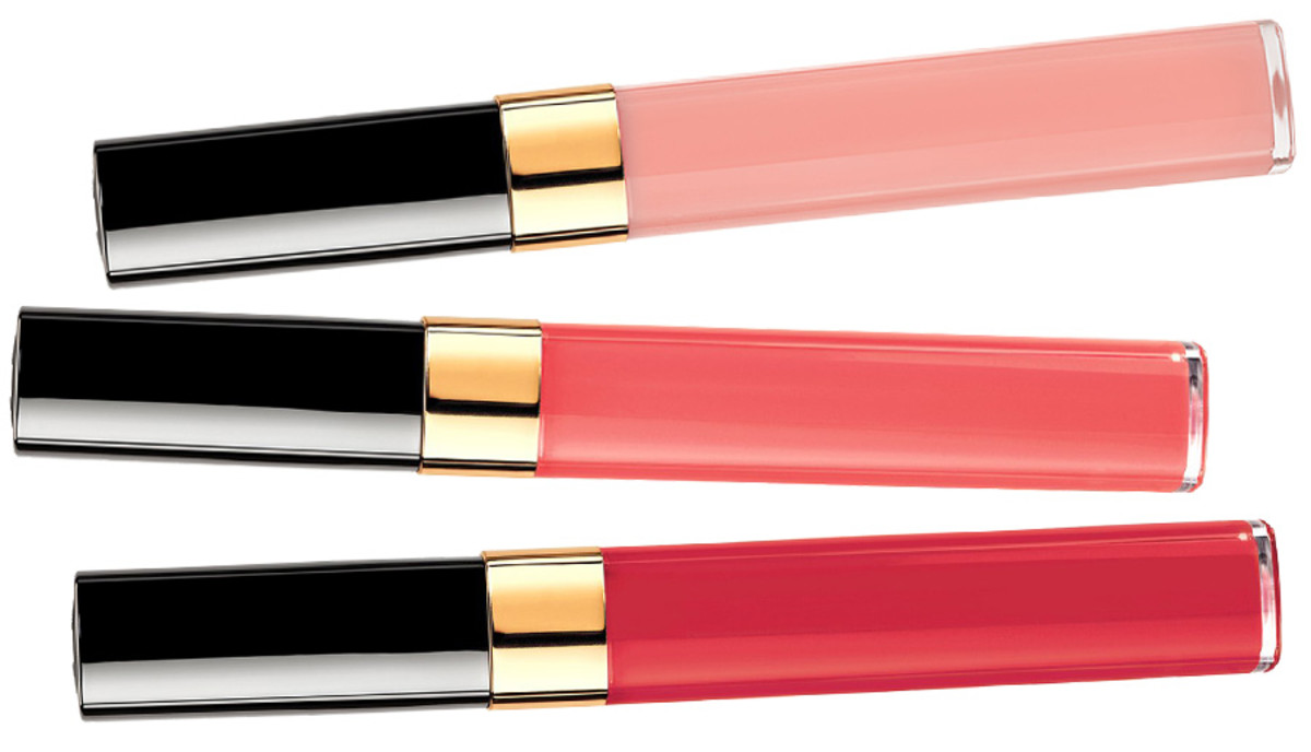 Chanel Spring 2014 lipgloss_Chanel Glossimer lipgloss_Plaisir_Murmure_Sonate_original image courtesy of Chanel_composite created by BEAUTYGEEKS imabeautygeek.com