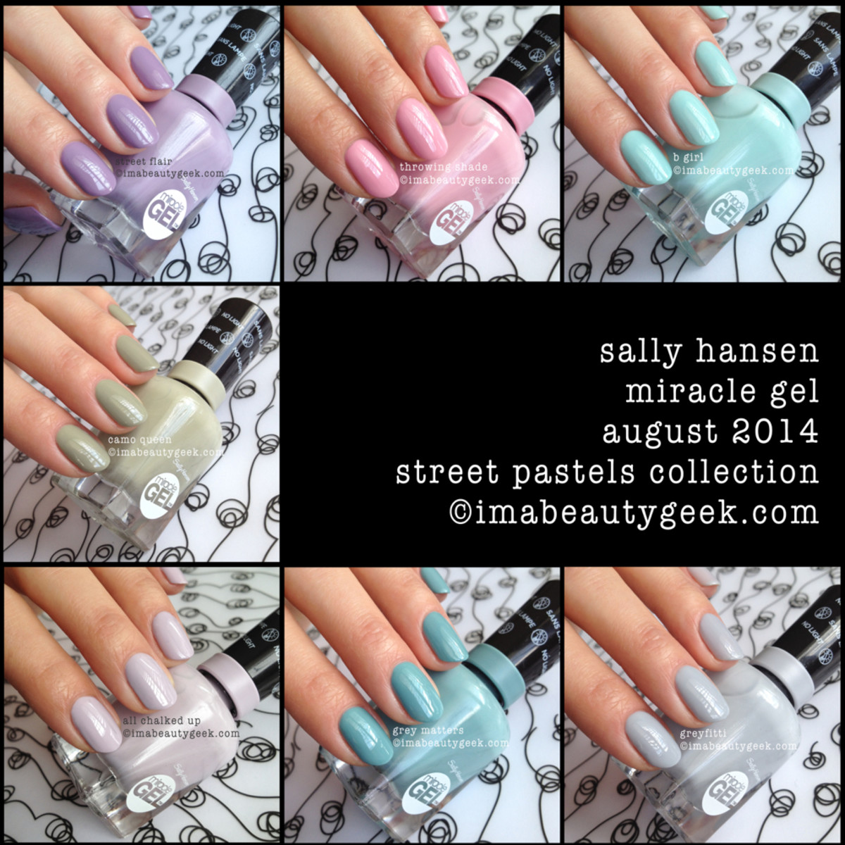 Sally Hansen Miracle Gel Swatches Street Pastels Collection Karen Falcon