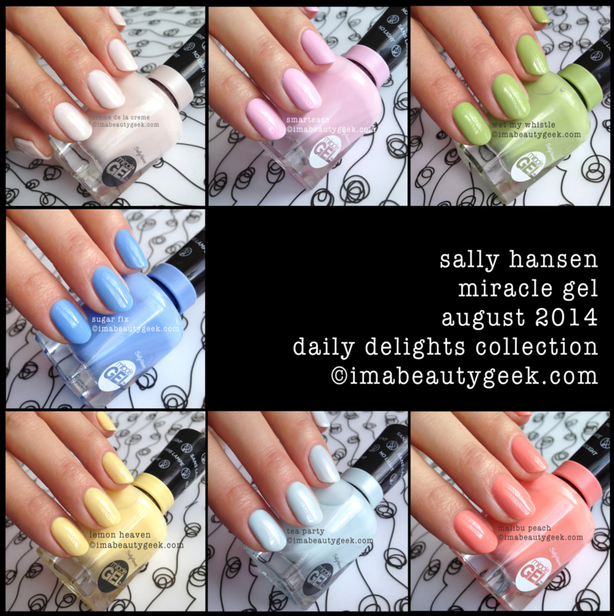 Sally Hansen Miracle Gel Swatches Daily Delights Collection