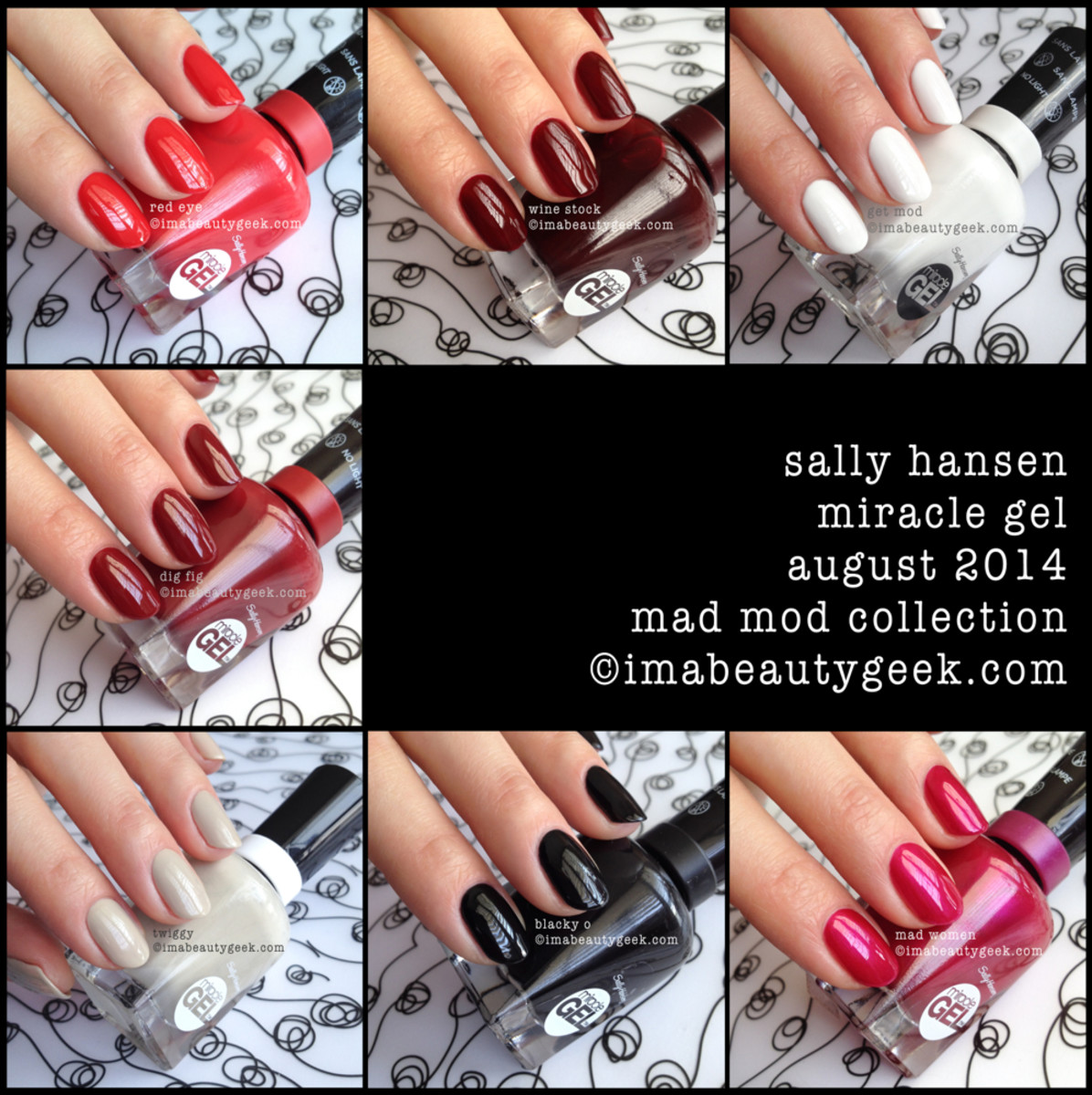 Sally Hansen Mad Mod Collection Swatches