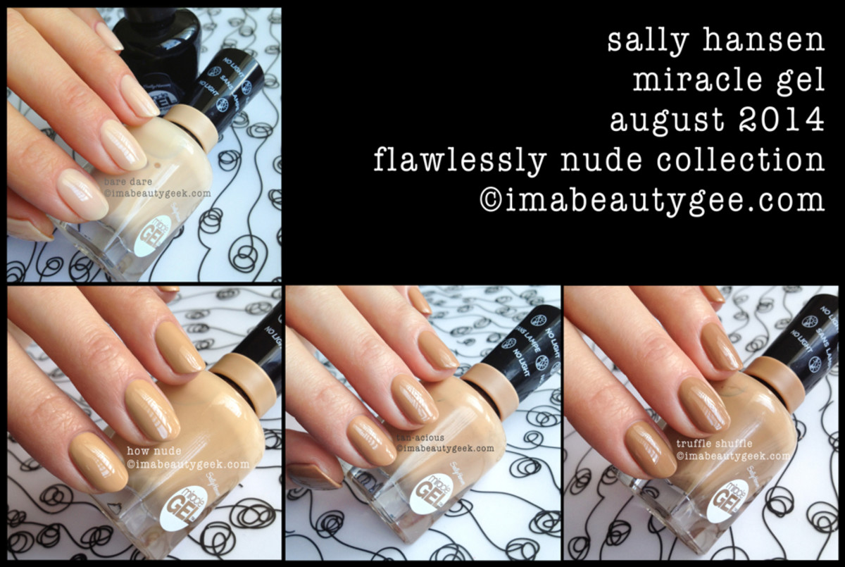 Sally Hansen Miracle Gel Swatches Flawlessly Nude Collection