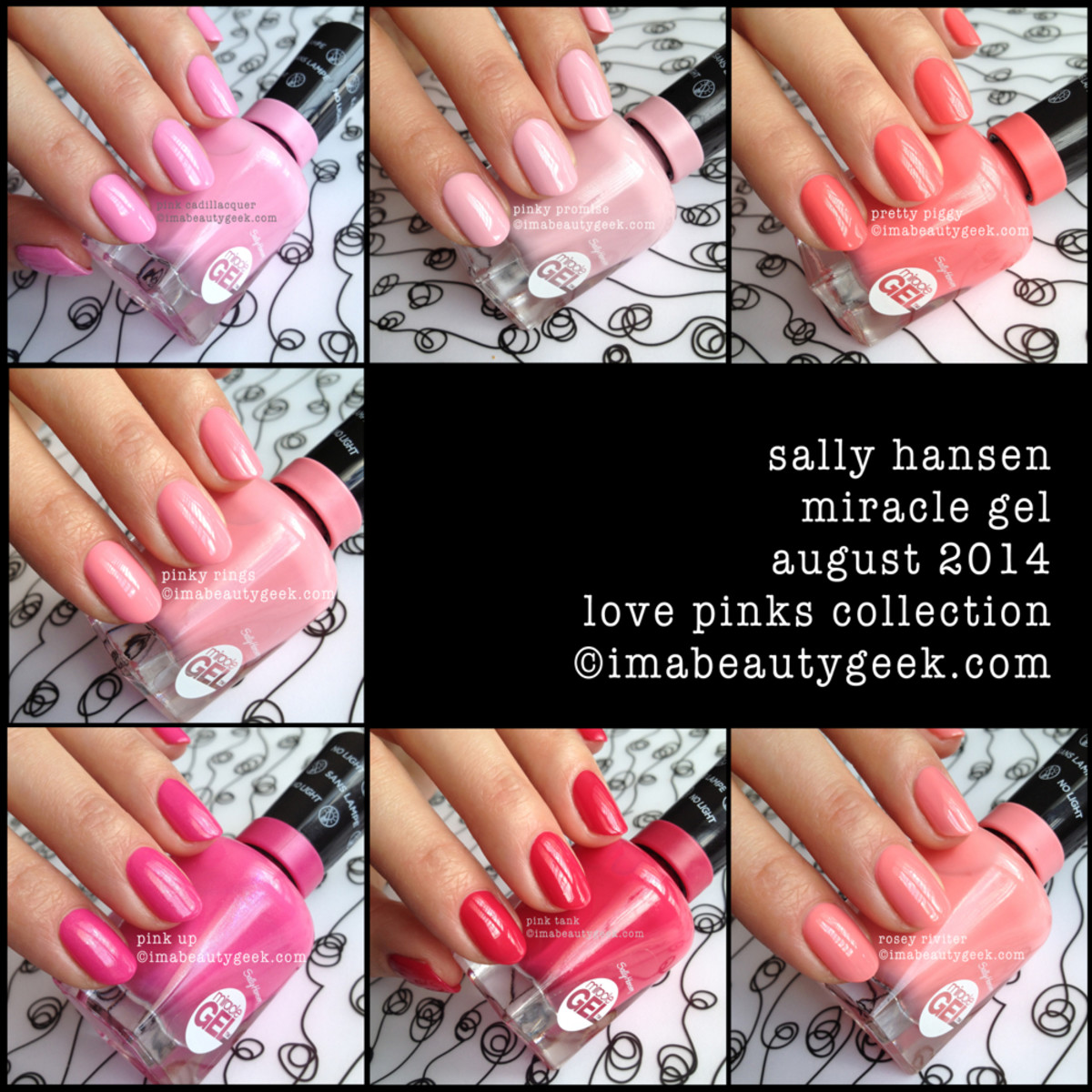 Sally Hansen Miracle Gel Love Pinks Collection Swatches