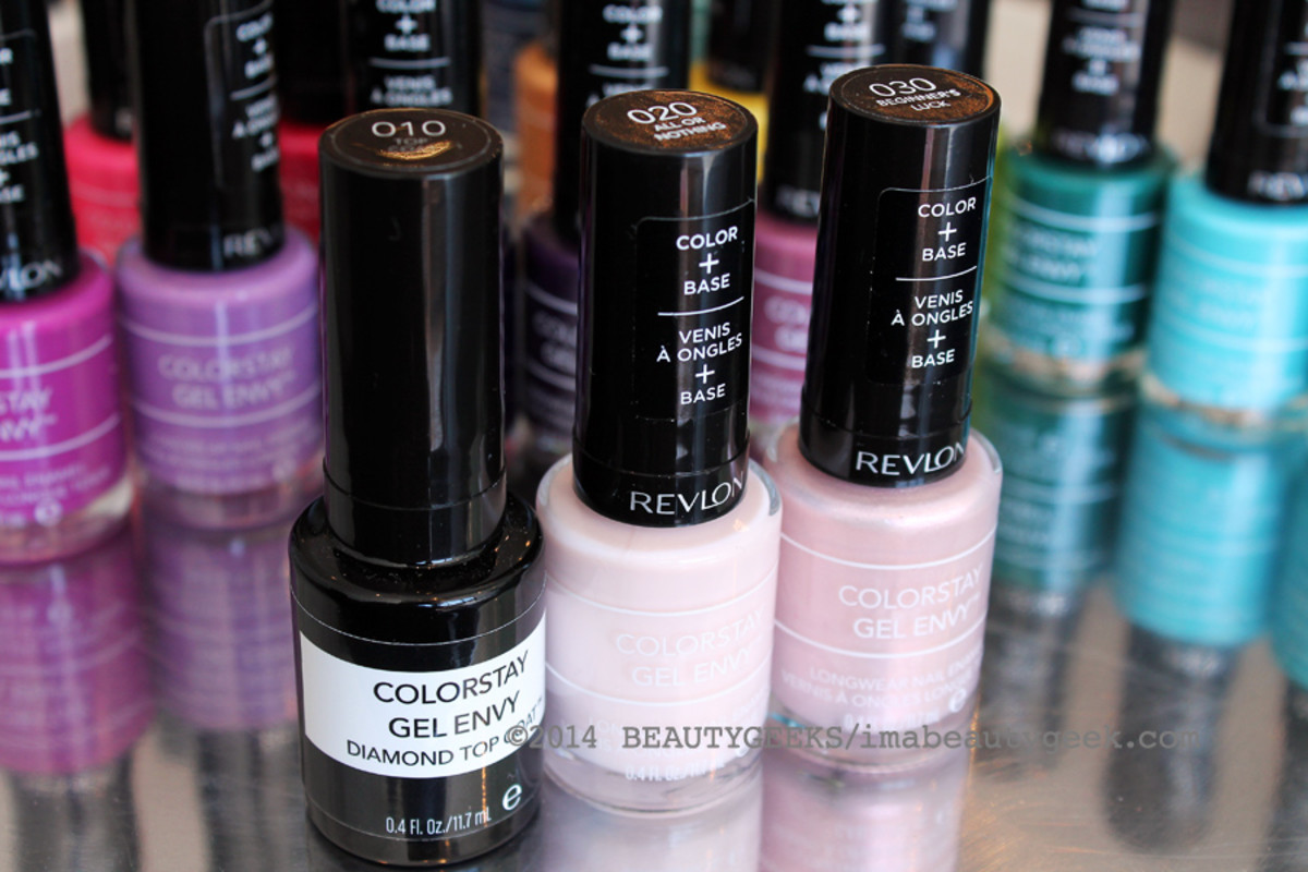 Revlon ColorStay Gel Envy nail polish_Revlon ColorStay Gel Envy Diamond Top Coat and 020 and 030