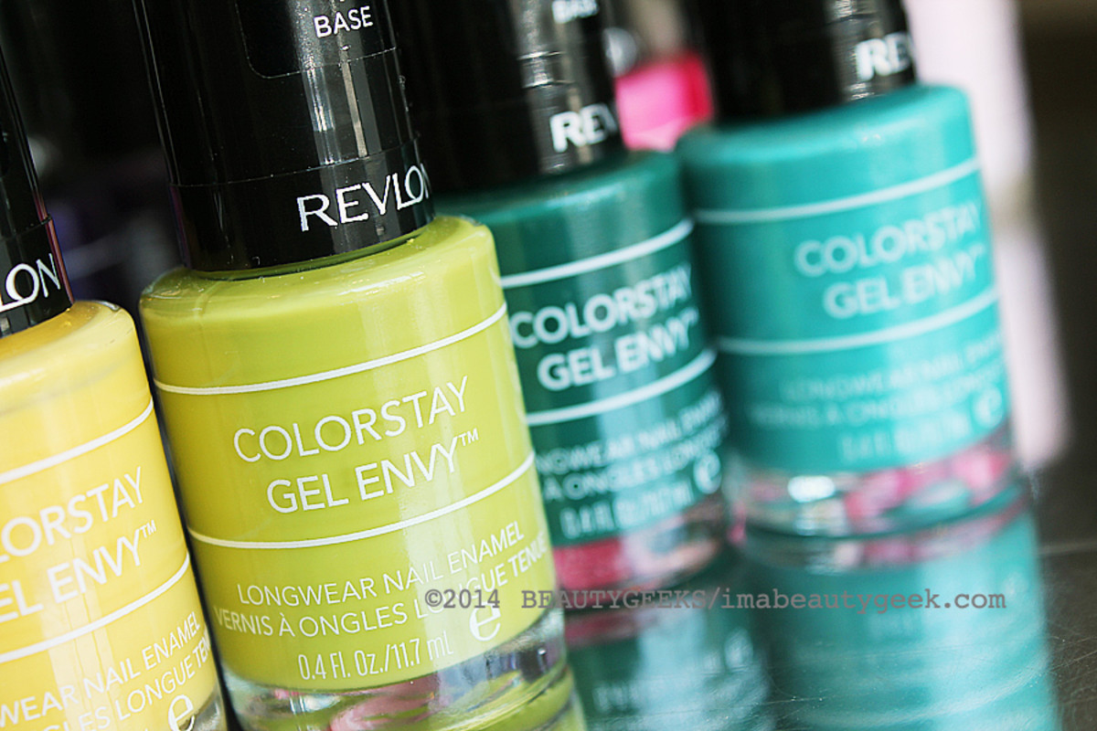 Revlon ColorStay Gel Envy nail polish_In the Money green and other shades