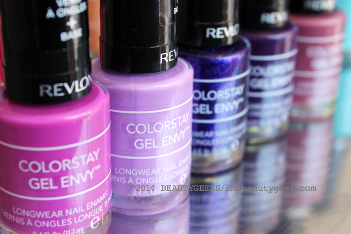Revlon ColorStay Gel Envy nail polish_pinks and purples oh my