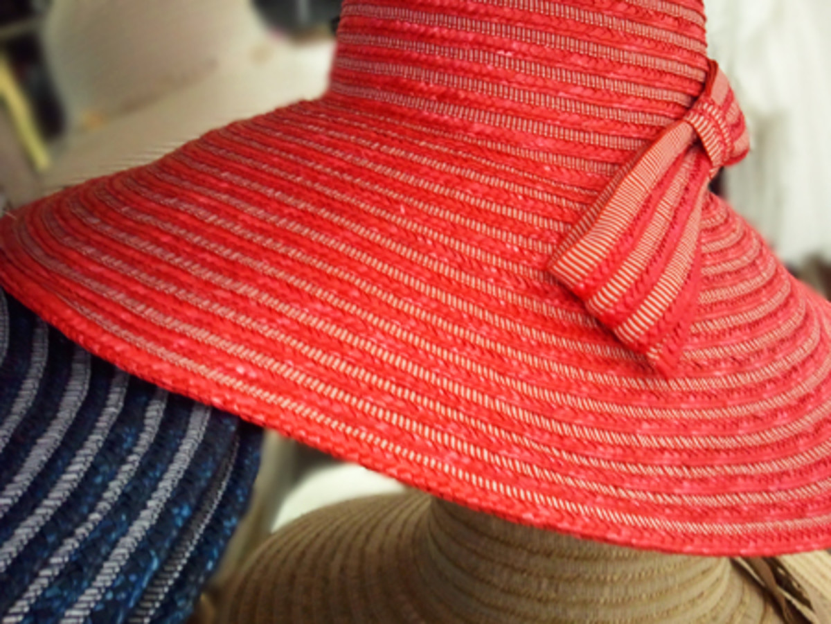 You want a sun hat with a brim like this