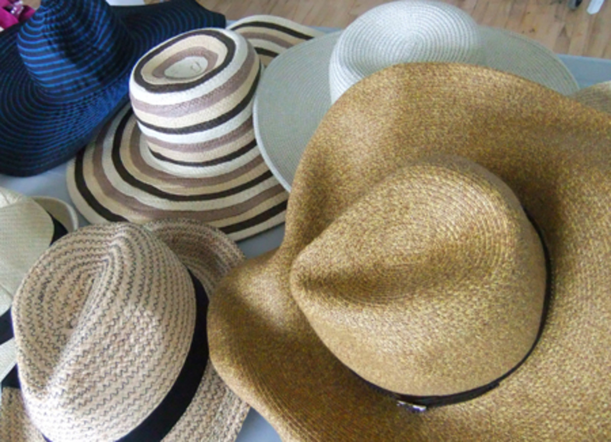 hats on the set of The Kit's summer cover shoot_stylist Vanessa Taylor