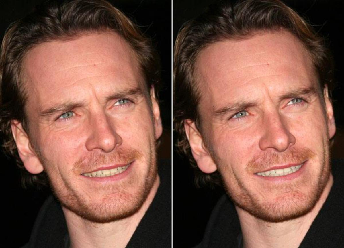 F Is For Fassbender Michael Before And After Teeth Whitening Via