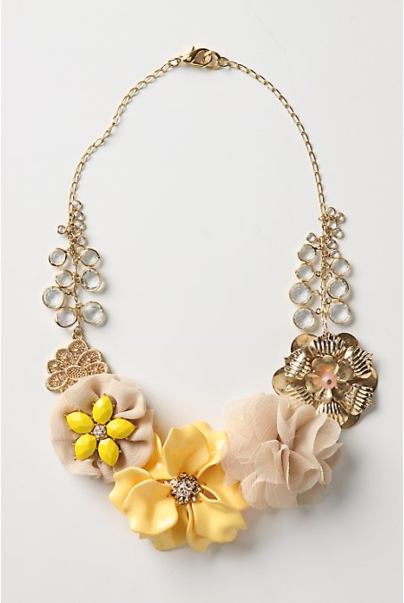 Anthropologie metal-acrylic-polyester From O'Keeffe Necklace $52.85 CAN $48 US