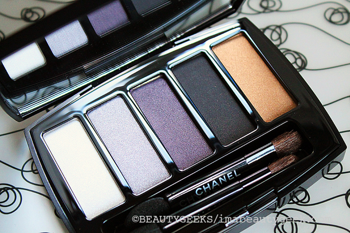 Chanel Holiday 2014_eyeshadow palette Les 5 Ombres de Chanel Oiseaux de Nuit