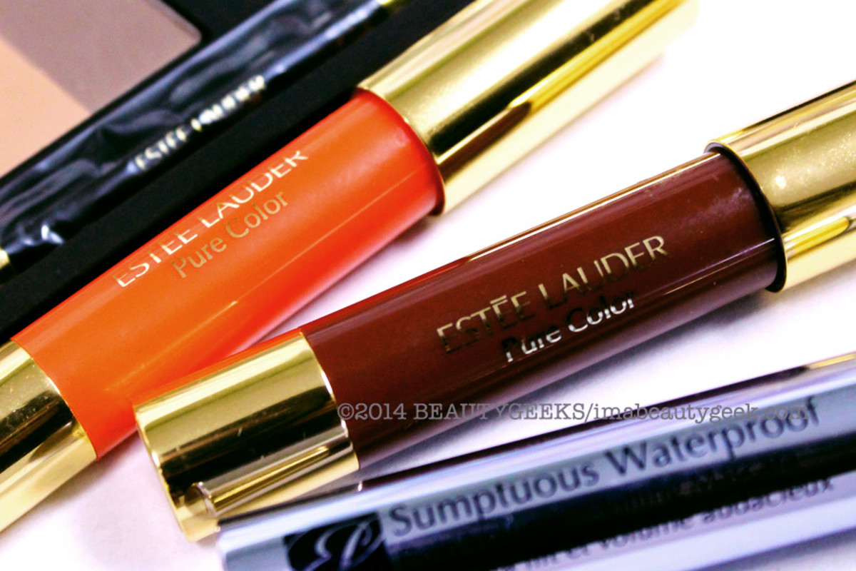 Estee Lauder Bronze Goddess Summer 2014 Pure Color LipShine_Mandarine and Lucsious Plum