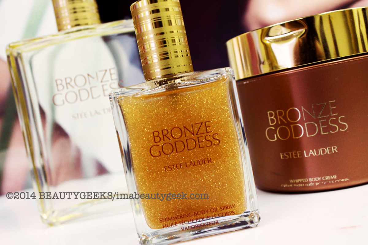 Estee Lauder Bronze Goddess Shimmering Body Spray and Whipped Body Creme_Summer 2014