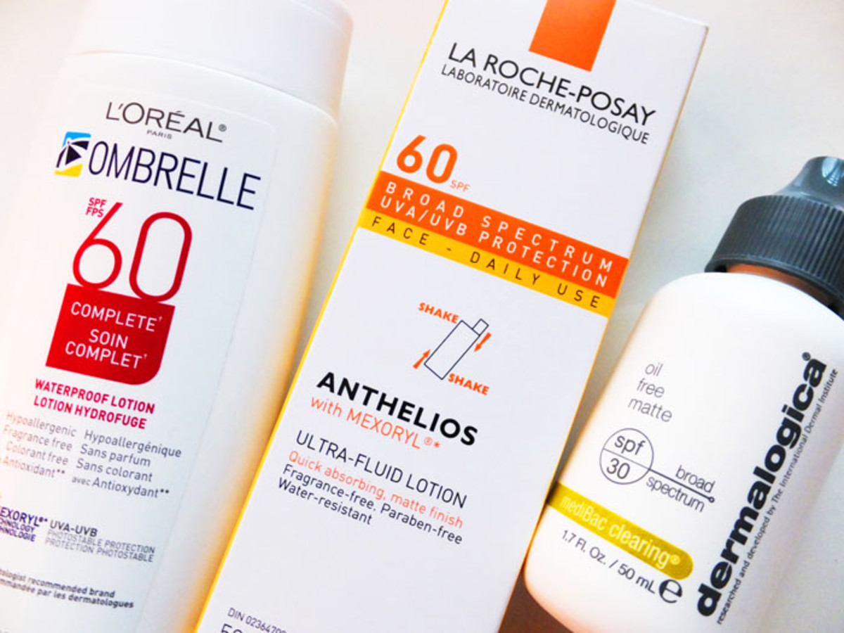 SPF for oily skin_Ombrelle Complete_La Roche-Posay Anthelios Ultra-Fluid_Dermalogica Oil Free Matte